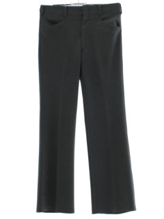 1970's Mens Gray Flared Leisure Pants