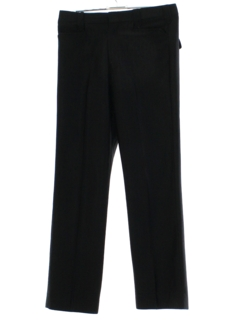 1970's Mens Black Western Style Leisure Pants
