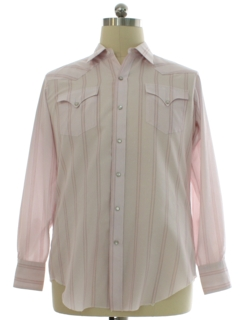 1980's Mens H Bar C Western Shirt