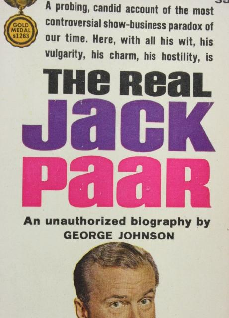 The Real Jack Paar S1263 George Johnson 1962 Good