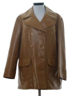 1970's Women Vinyl Coat Jacket