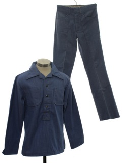 1970's Mens or Boys Combo Leisure Suit