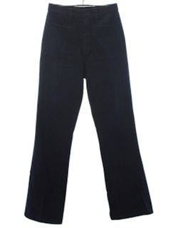 1970's Womens Navy Bellbottom Style Flared Jeans Pants