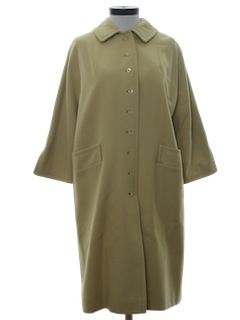 1960's Womens Duster Style Overcoat Jacket