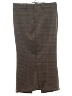1970's Womens Plaid Leisure Pants Skirt
