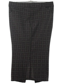 1970's Womens Plaid Leisure Pants Maxi Skirt