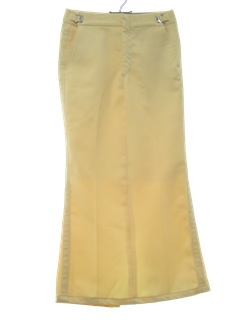 1970's Womens Tuxedo Pants Maxi Skirt