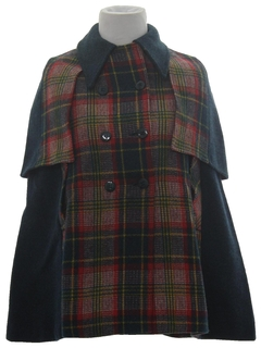 1960's Womens/Girls Scottish Style Poncho or Cape Jacket