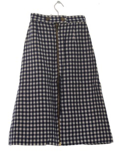 1960's Womens/Girls Mod Plaid Skirt