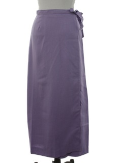 1970's Womens Maxi Wrap Skirt