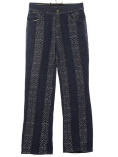 1970's Unisex Flared Jeans-Cut Mod Pants