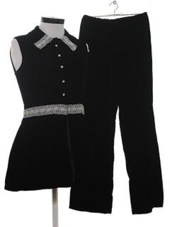 1960's Womens Mod Velvet Pantsuit*