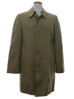 1970's Mens Poplin Raincoat Jacket
