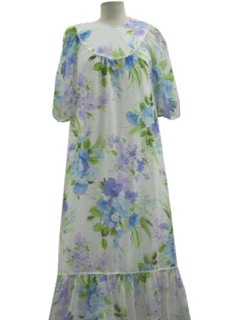 1970's Womens Hawaiian MuuMuu Dress