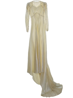 1940's Womens Wedding Gown Dress*