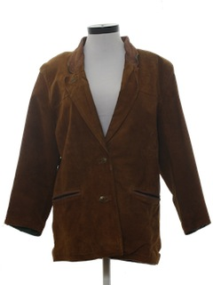 1970's Womens Suede Leather Jacket