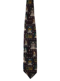 1980's Mens Ugly Christmas Necktie