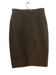 1970's Womens Leather Skirt