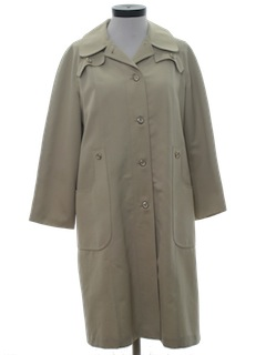 1980's Womens Raincoat Overcoat Jacket
