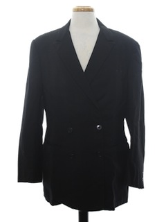 1970's Mens Double Breasted Blazer Style Sport Coat Jacket