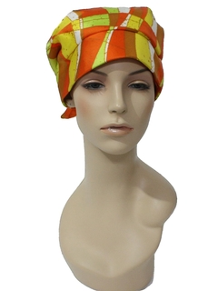 1960's Womens Accessories - Mod Turbin Style Hat