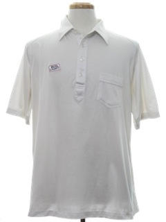1980's Mens Bud Light Golf Shirt