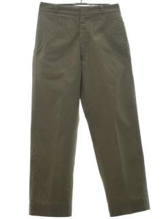 1970's Mens Military Pants