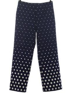 1960's Womens Mod Op-Art Polka Dot Print Pants*