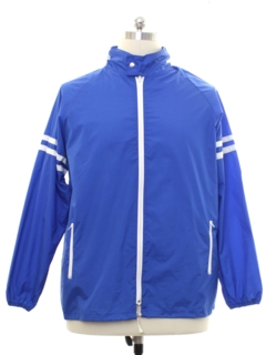 1980's Mens Totally 80s Windbreaker Zip Racing Jacket
