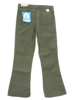 1970's Mens/Boys Plaid Bellbottom Pants