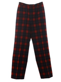 1980's Womens Plaid Wool Pants