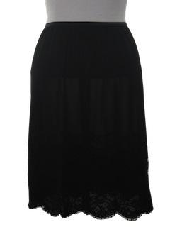 1980's Womens Lingerie -  Slip Skirt