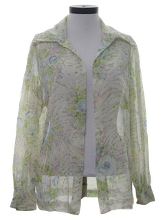 1970's Womens Sheer Shirt Jacket