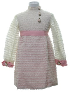 1960's Womens/Girls Lace Dress