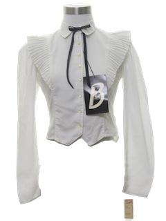 1980's Womens/Girls Prairie Style Western Shirt