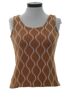1970's Womens Tank Top Shirt