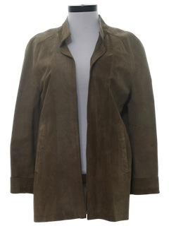 1970's Womens Suede Leather Coat Jacket