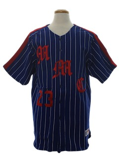 1980's Mens Baseball Uniform Shirt