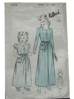 1940's Womens/Girls Pattern Envelope