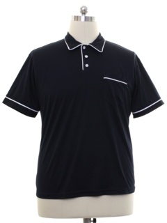 1990's Mens Knit Bowling Style Polo Shirt