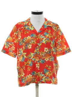 1980's Womens Hawaiian Blouse