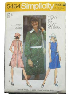 1970's Womens Dress Pattern