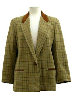 1970's Womens Wool Blazer Sport Coat Jacket