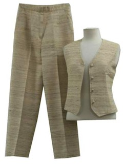 1960's Womens Vest and Pant Suit
