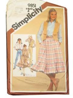1980's Women Pattern