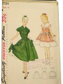 1950's Girls Pattern