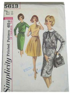 1960's Womens Dress Pattern