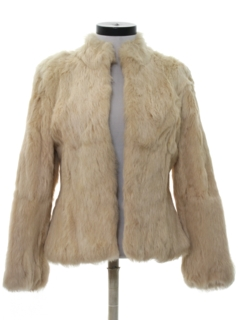 1980's Womens Rabbit Fur Jacket