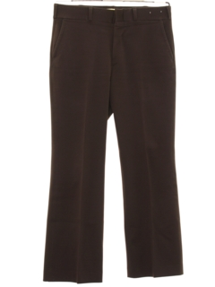 1970's Mens Flared Flat Front Pants