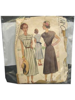 1950's Womens Dress Pattern